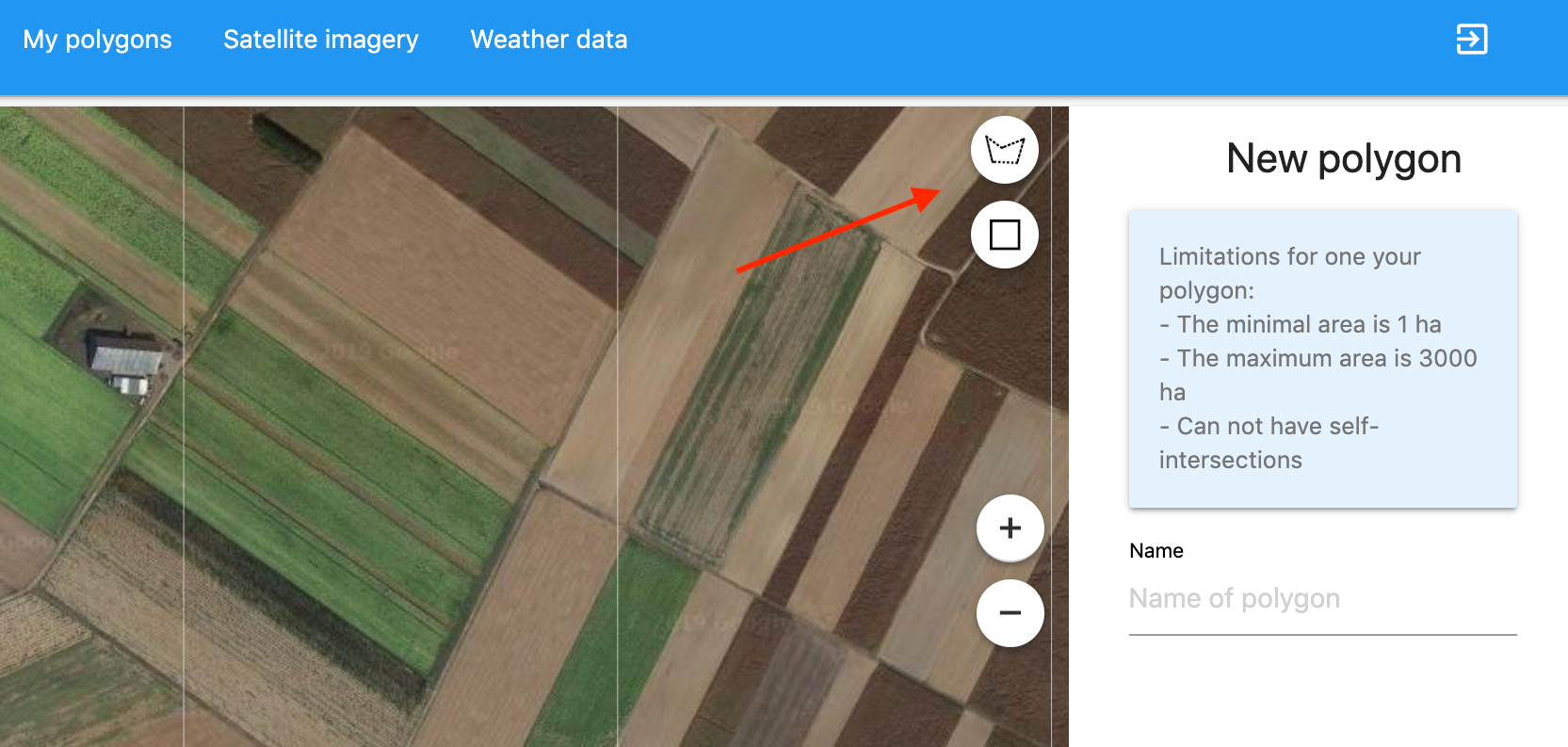 Agriculture API Dashboard: Work with polygons - Open Weather