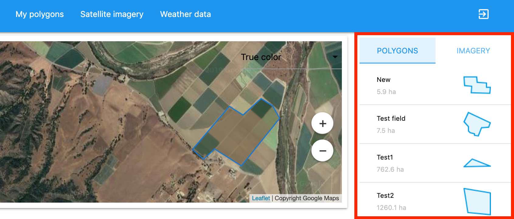 Agriculture API Dashboard: Current weather and forecast - Openweather